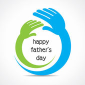 Happy father's day concept vector — Vettoriale Stock
