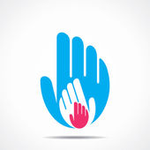 Hand support icon vector — Stock Vector