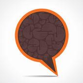 Yaratıcı konuşma balonu hisse senedi vektör — Stok Vektör