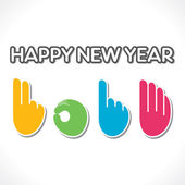 Colorful 2014 new year counting finger stock vector — Stock Vector