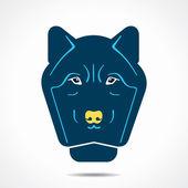 Creative wolf face design vector — Stock Vector