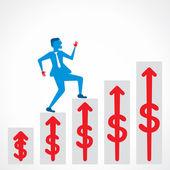 ビジネスマンは上位概念ベクトルを移動します。 — ストックベクタ