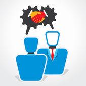 Uomini d'affari, riunioni vettore concetto — Vettoriale Stock