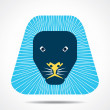 Creative lion face design vector — Stock Vector