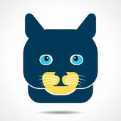 Creative cat face design vector — Stock Vector