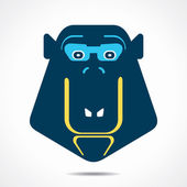 Creative monkey face design vector — Stock Vector