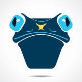 Creative frog face design vector — Stock Vector