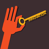 Innovation key in hand stock vector — Stock Vector