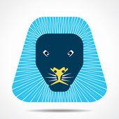 Creative lion face design vector — Stock Vector
