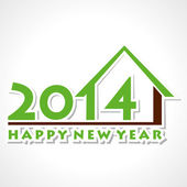 Happy new year 2014 greeting background vector — Stock Vector