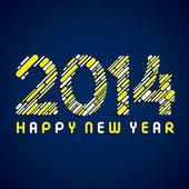 Vector de fondo de saludo feliz año 2014 — Vector de stock