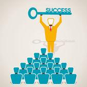 Ondernemers met succes sleutel — Stockvector