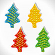 Creative Christmas tree design vector — Stock Vector