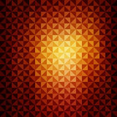 Creative yellow orange triangle pattern background vector — Stock Vector
