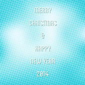 Happy new year and merry Christmas background vector — Stock Vector