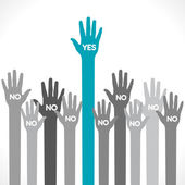 Only one hand say yes background vector — Stock Vector