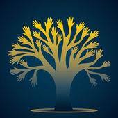 Creative hand tree vector — Stock Vector