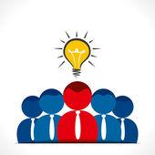 Ledarskap koncept — Stockvektor