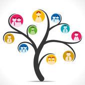 People icon tree — Stock Vector