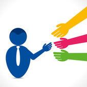 Business agreement for handshake — Stock Vector