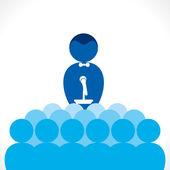 Leadership or speaker, business meeting — Stock Vector