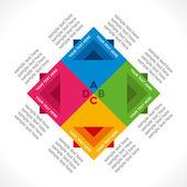 Square info-graphics design background — Vector de stock