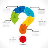 Вопросительный знак Инфо графика дизайн концепции — Cтоковый вектор