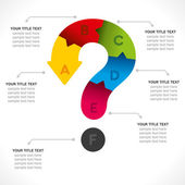 Question mark info-graphics design background — Stock Vector