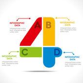 Creative number '4' — Stock Vector