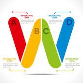 Creative alphabet 'W' — 图库矢量图片
