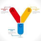 Creative alphabet 'Y' — 图库矢量图片