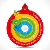 Negocio flecha infografía — Vector de stock