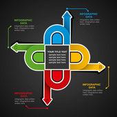 Business info- graphics design — 图库矢量图片