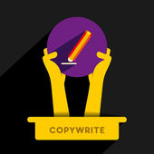 Copy-write icon design hold in hand vector — Stock Vector