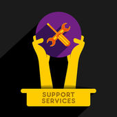 Creative support and service provider icon design vector — Vector de stock