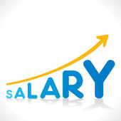 Salary increment growth graphics — Stock Vector