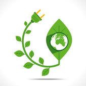 Creative green energy concept — Stock Vector