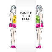 Abstract fashion girl design — Stock Vector