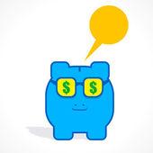 Creative piggy bank — Stock Vector