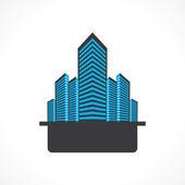 Creative office building icon — Stock Vector