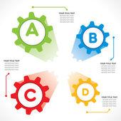 Diseño creativo infografía industrial — Vector de stock