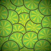 Green lemon pattern background — Stock Vector