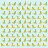 Boat or sailboat pattern background — Stock Vector