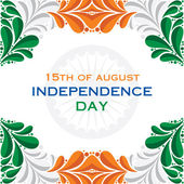 Happy independence day greeting background — Stock Vector