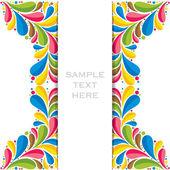 Creative colorful flora banner or brochure design — Stock Vector