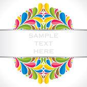 Creative colorful flora banner — Stock Vector