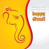 Creative happy Diwali greeting card — Stock Vector