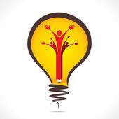 Creatieve mensen steun symbool — Stockvector