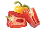 Pepper longitudinal section — Stock Photo