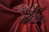 Red satin fabric — Stock Photo